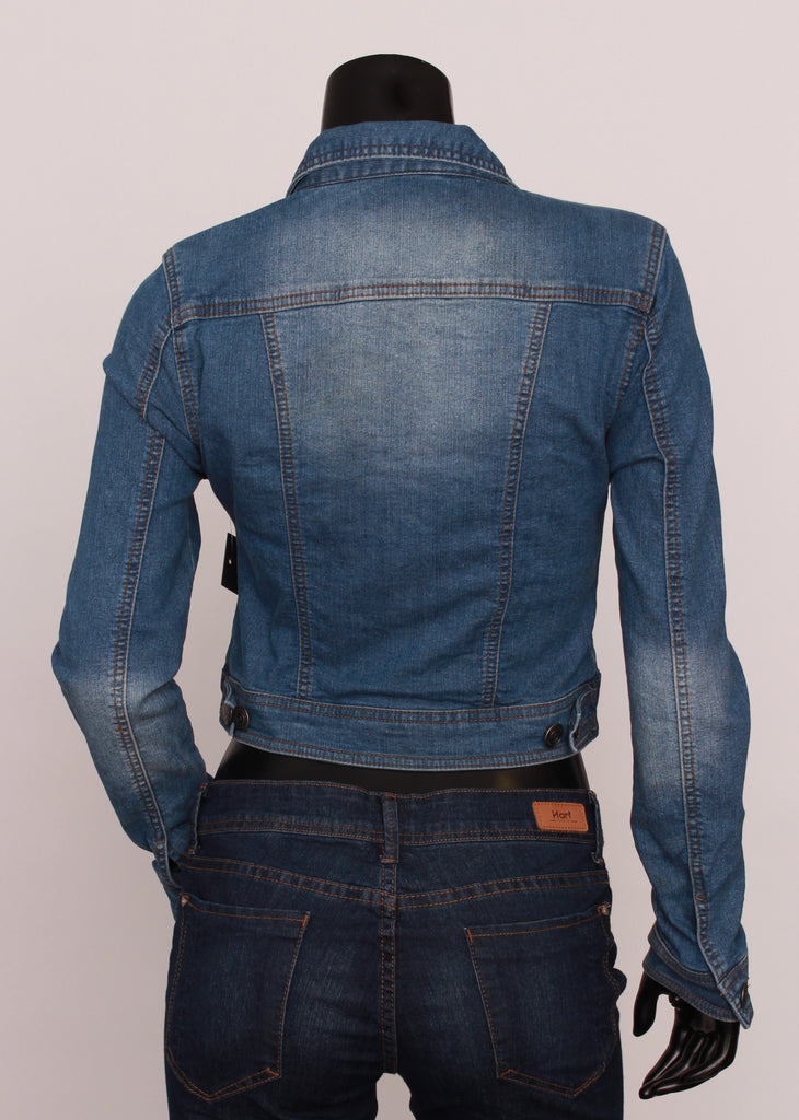 Denim Jacket Button Up Short Length