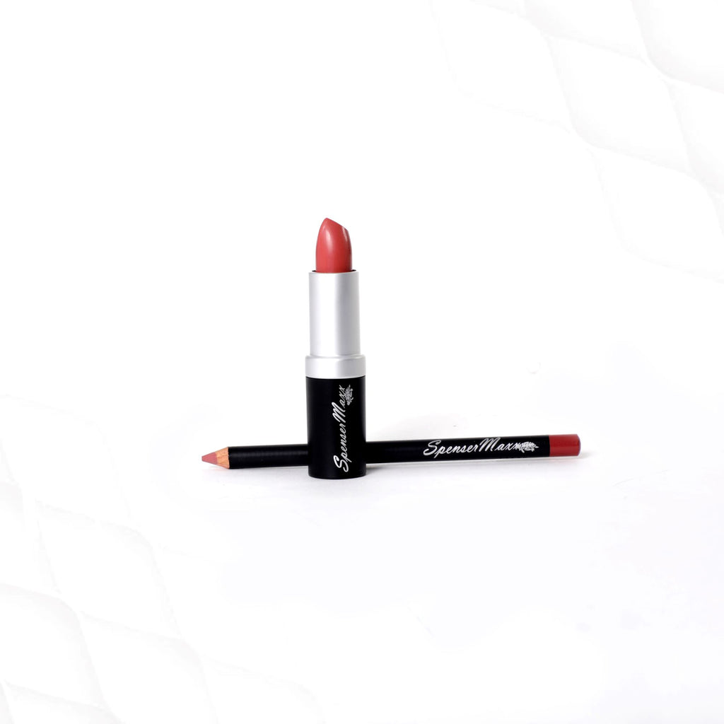Chic Matte Lipstick with Match Lip Pencil - LaLa's Rose