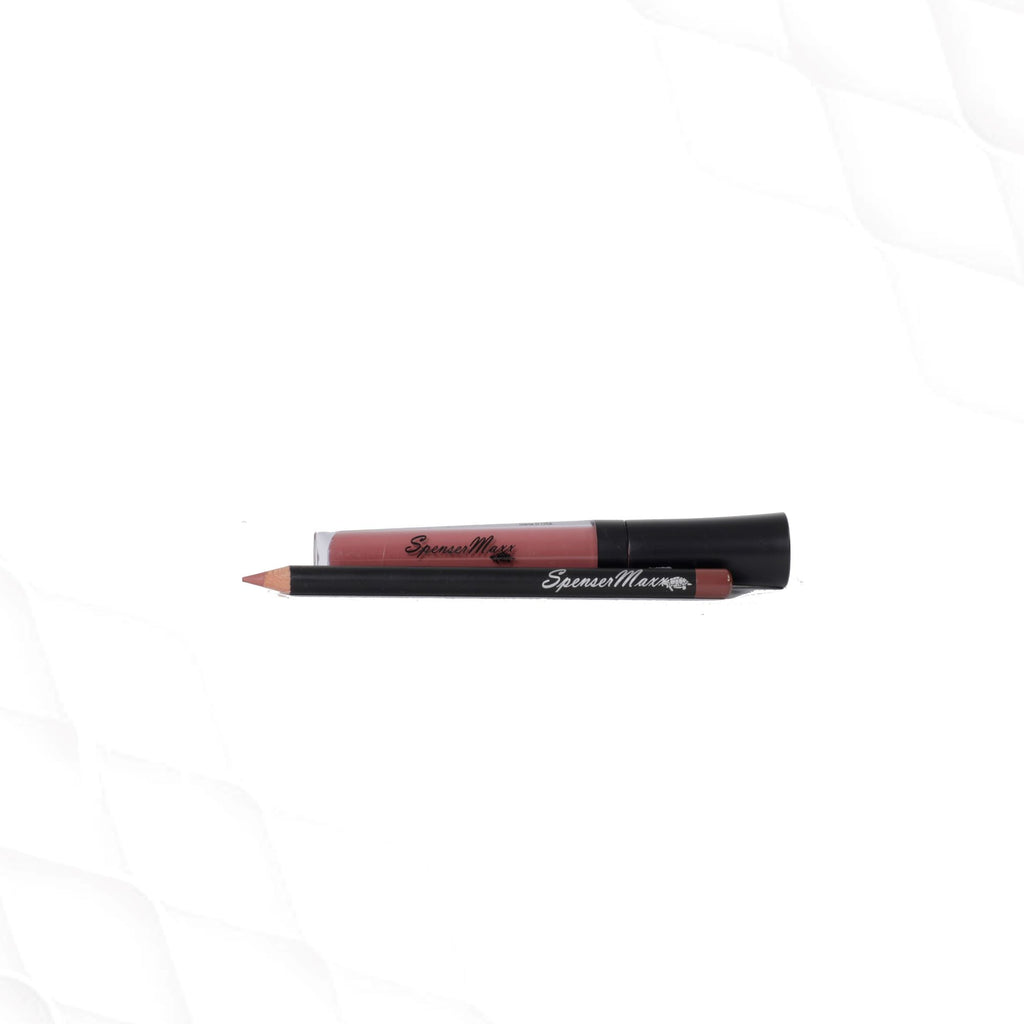 Glam Longer Matte Liquid Lips with Match Lip Pencil - Mauve