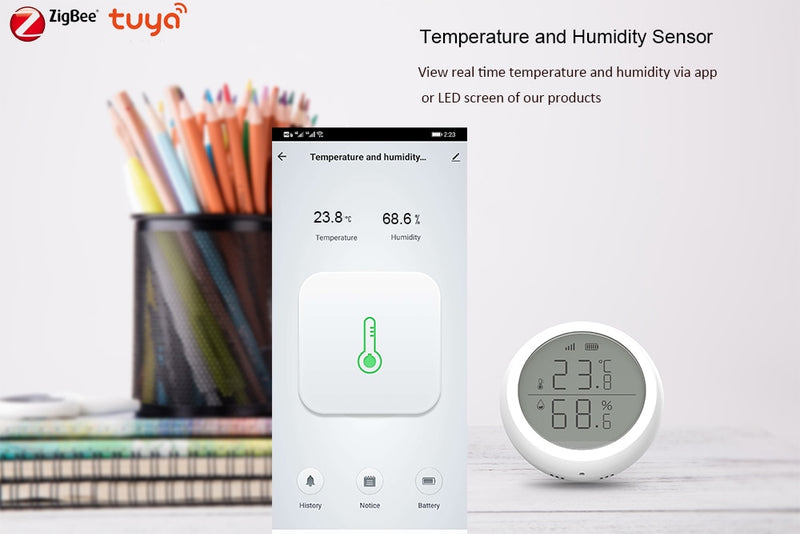 Smart Home Temperature And Humidity Sensor