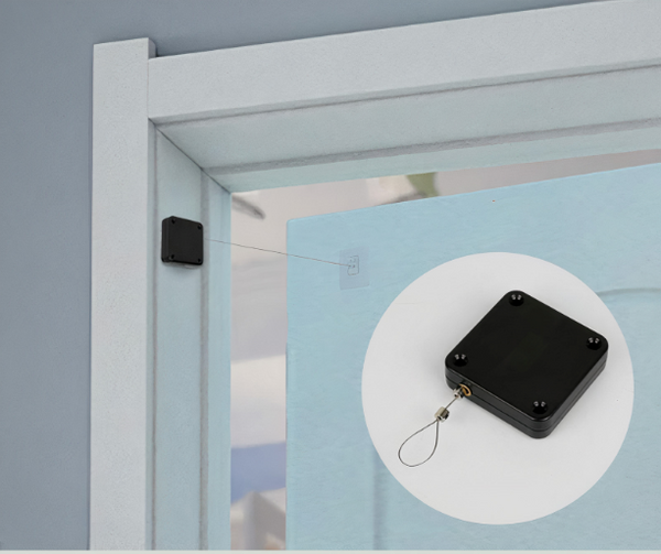 Punch-free automatic door closer