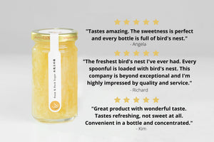 Bird's Nest with Rose & Rock Sugar 150g X 4 Bottles - 1 Month Supply - The Purest Co