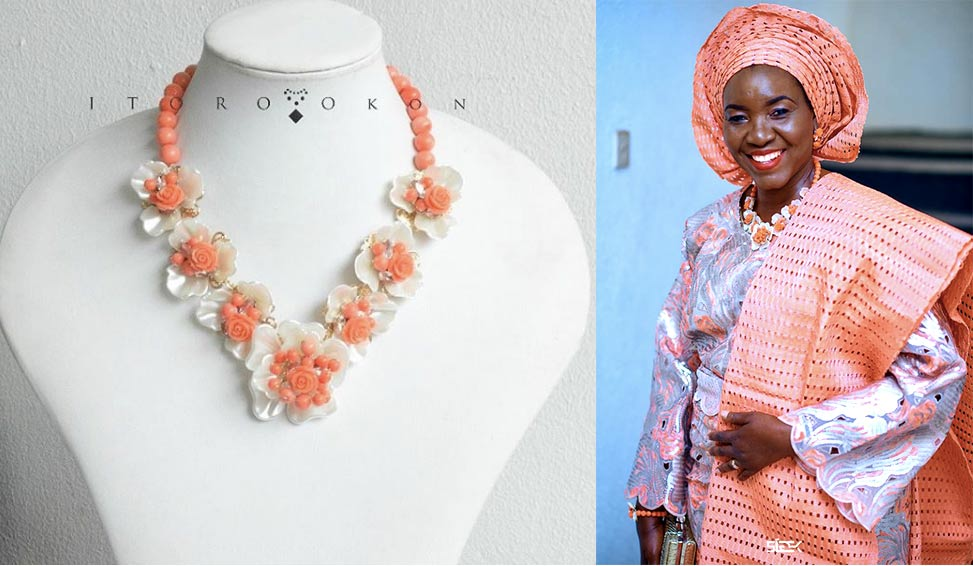 Coral Floral Necklace Oyinda