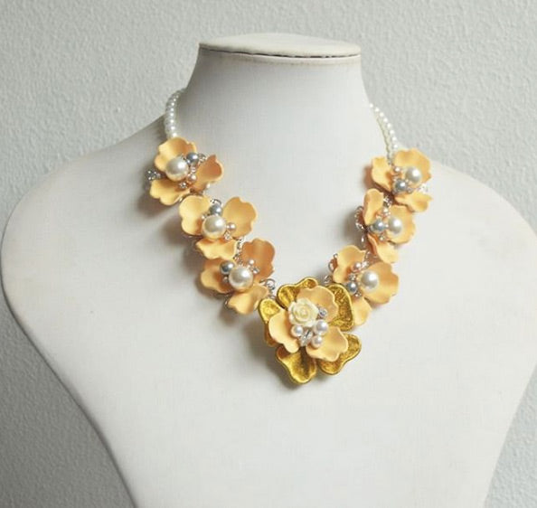 Yello Floral Necklace