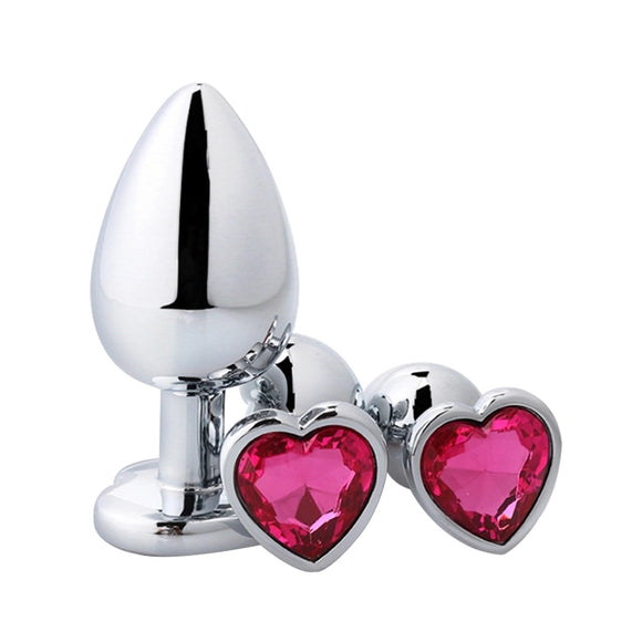 Heart shaped metal anal plug