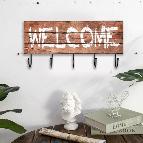 "Cuier Decorativ Vintage ""Welcome"""