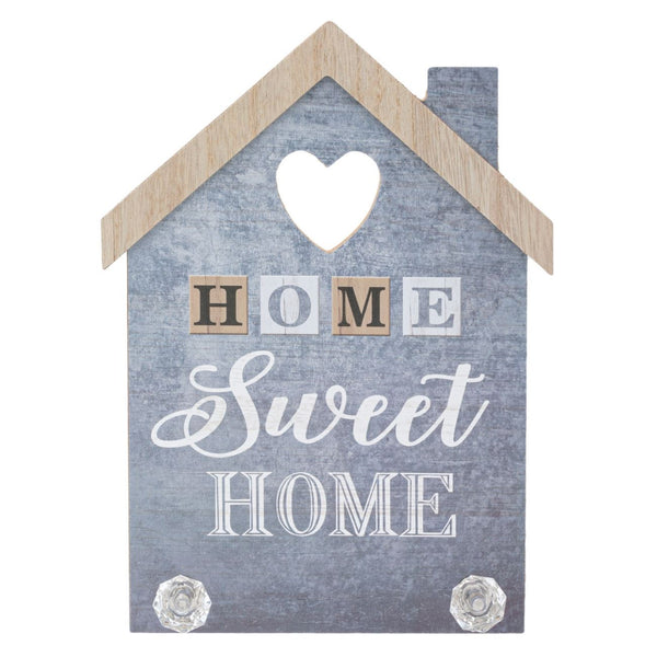 "Cuier decorativ lemn ""Home sweet home"""