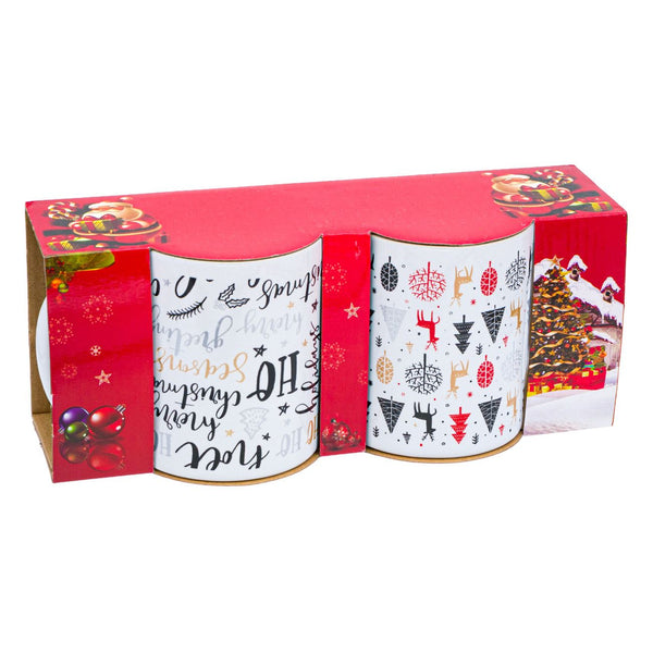 Set cani Craciu, Christmas Party 320 ml - 2 buc.