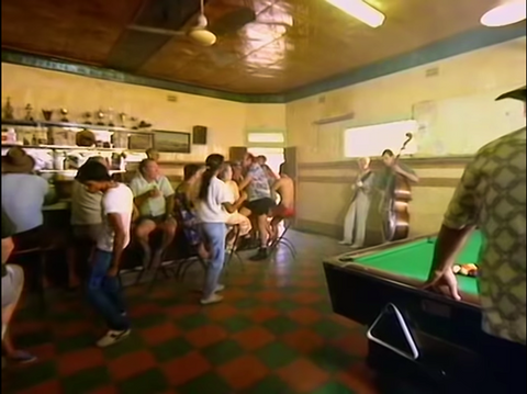 Scene from Let's Dance video by David Bowie