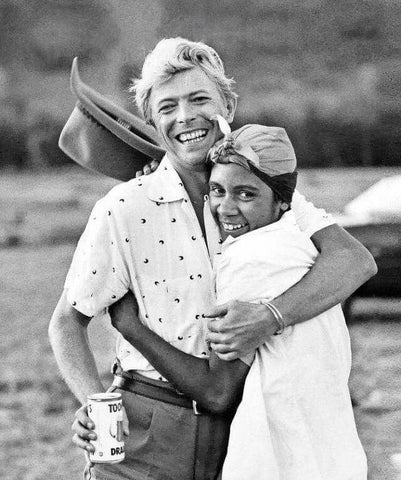 David Bowie during the filming of Let's Dance