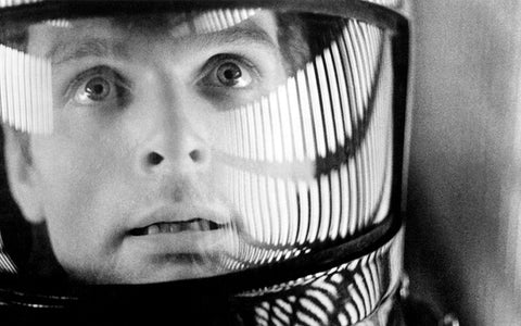 photo from the film 2001 a space odyssey of one of the astronauts