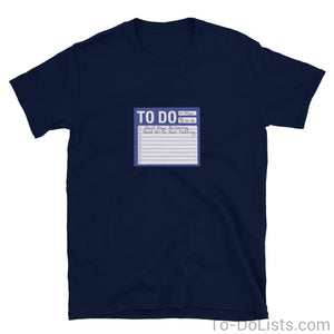 Don't Stop Believin' T-Shirt Blue-T-Shirts-To-DoLists.com
