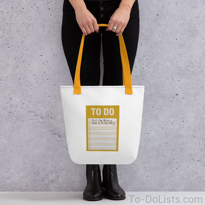Don't Stop Believin' Tote Bag-Tote Bags-To-DoLists.com