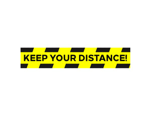 Keep Distance Floor Graphic