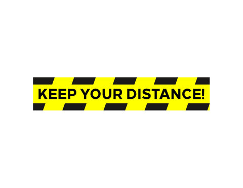 Keep Distance Concrete Graphic