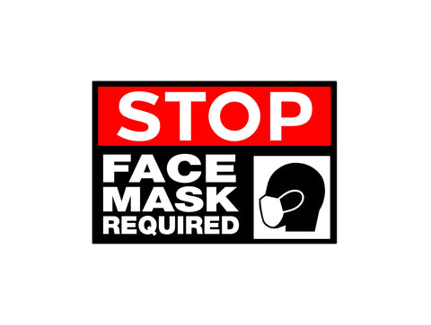 Stop Face Mask Required Decal