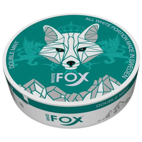 White Fox Double mint nicotine pouches - Arctic snus