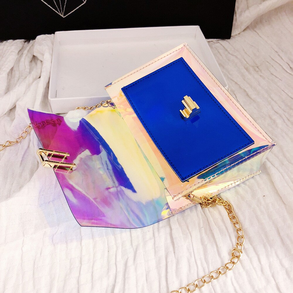 Laser Transparent Crossbody Handbag