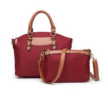 Load image into Gallery viewer, Women's Two Piece Diagonal Oxford Cloth Handbag