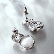 Load image into Gallery viewer, Opal earring, women's earrings, white gold earring