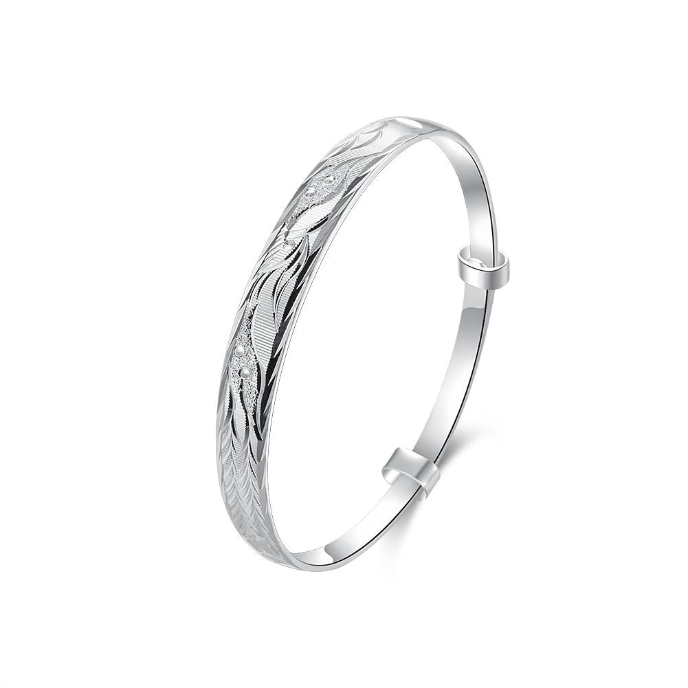 Saint-Etienne-du-Rouvray Bangle in 18K White Gold Plated