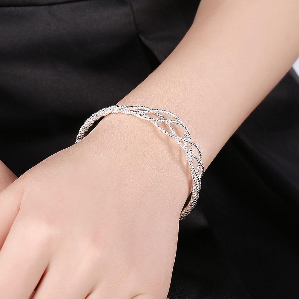 Sevres Bangle in 18K White Gold Plated