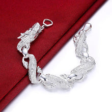 Load image into Gallery viewer, Chinese Dragon Bracelet in 18K White Gold Plated