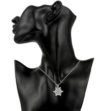 Load image into Gallery viewer, Snowflake Necklace in 18K White Gold Plated with Swarovski Crystals