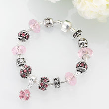 Load image into Gallery viewer, Pink Crystal Inspired Bracelet
