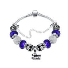 Load image into Gallery viewer, Blue Pandora Inspired Bracelet