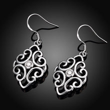 Load image into Gallery viewer, Women's earrings, white gold earrings, Swarovski crystal earrings