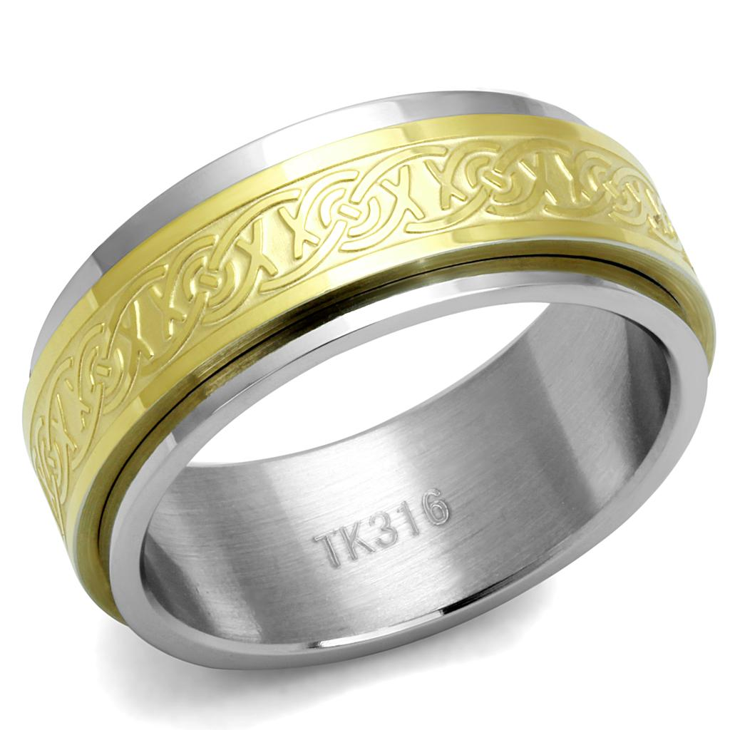 Men Stainless Steel No Stone Rings TK2939