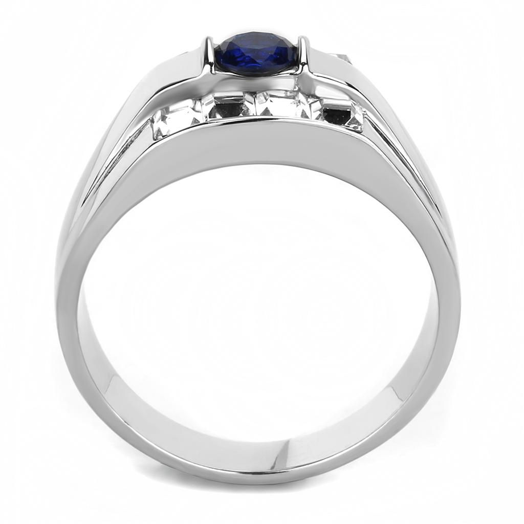 Men Stainless Steel Synthetic Glass Rings TK3463