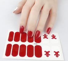Load image into Gallery viewer, Gingerbread Gel Nail Wraps