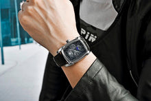 Load image into Gallery viewer, BENYAR Rectangle Design Leather Strap Men's Watch