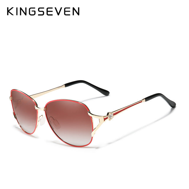 KINGSEVEN Women's Butterfly polarized lens Sunglasses