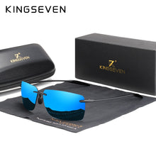 Load image into Gallery viewer, KINGSEVEN Men's Rimless Ultralight Men's Sunglasses