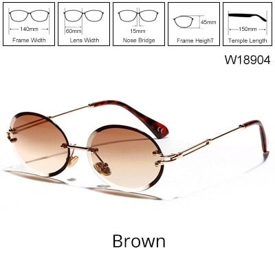 TWO O' Clock - Women's Rimless Sunglasses