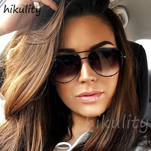 Load image into Gallery viewer, Hikullity - Ladies Vintage Aviator Sunglasses, 80931c