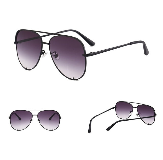 Hikullity - Ladies Vintage Aviator Sunglasses, 80931c