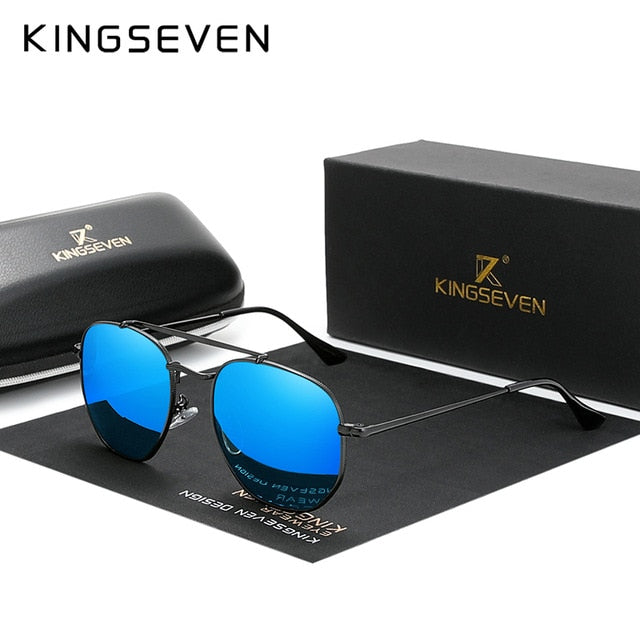 KINGSEVEN Men's Vintage Polarized Sunglasses Men