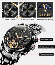 Laden Sie das Bild in den Galerie-Viewer, OLVES – Men's Calendrer Moon Phase Watch