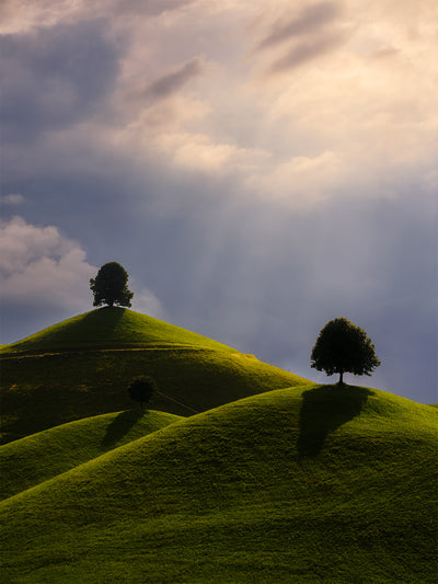 The Hills in glorious Light - Fine Art Print manumo-photography.