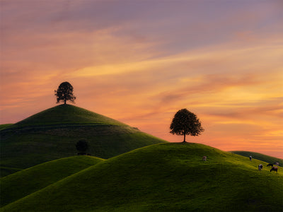 Sunset at the Hills - Fine Art Print manumo-photography.