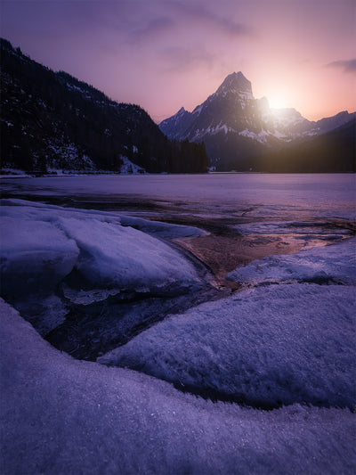 Obersee Winter Sunset - Fine Art Print manumo-photography.