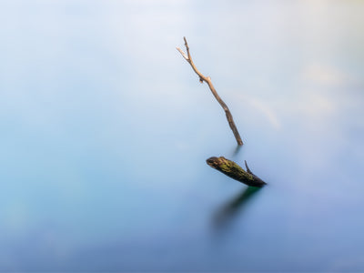 Minimalism in Blue - Fine Art Print manumo-photography.