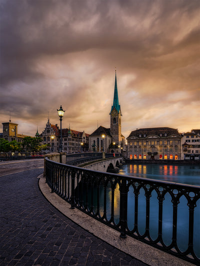 Zurich Summer Sunset - Fine Art Print manumo-photography.
