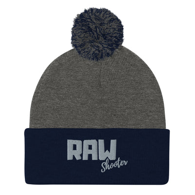 RAW Shooter Pom-Pom Beanie manumo-photography.