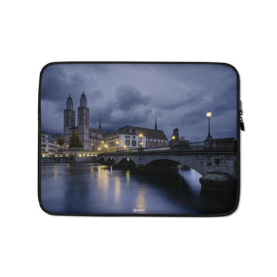 Cool Evening in Zurich - Laptop Sleeve manumo-photography.