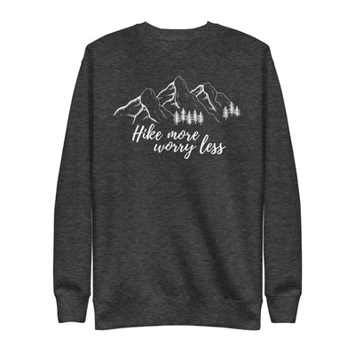 Hike More Worry Less Unisex Fleece Pullover manumo-photography.